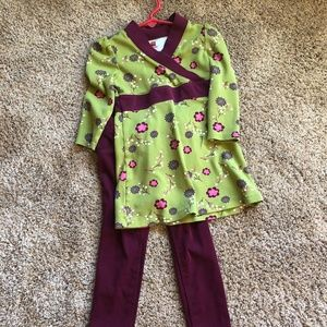 Tea Collection Matching Sets - Tea Dress size 3 with coordinating pants